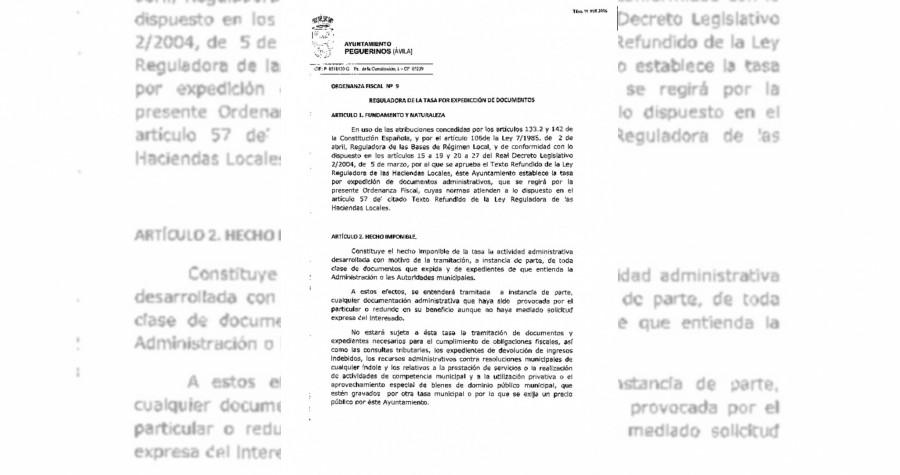 Tasa expedicion de documentos 2016