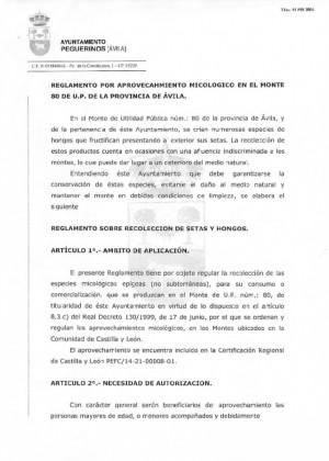 Reglamento micologico