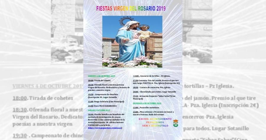 Fiestas virgen del rosario 2019