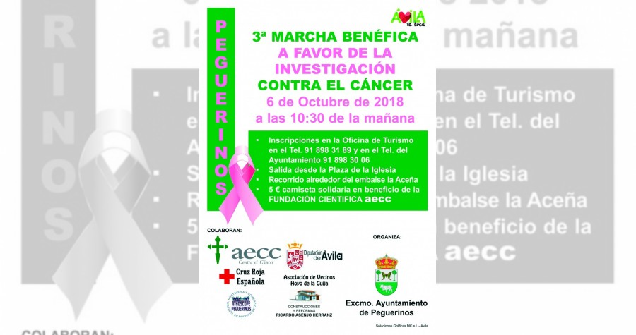 3 marcha benefica contra el cancer